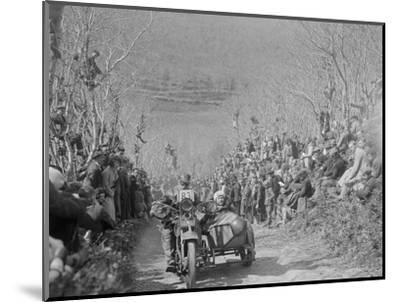 Harley-Davidson of RW Praill, MCC Lands End Trial, Hustyn Hill, Wadebridge, Cornwall, 1933-Bill Brunell-Mounted Photographic Print