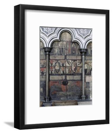 Wall painting in the Chapter House, Westminster Abbey, London, c1400-Werner Forman-Framed Giclee Print