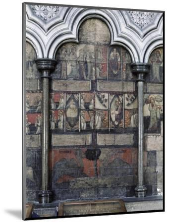 Wall painting in the Chapter House, Westminster Abbey, London, c1400-Werner Forman-Mounted Giclee Print