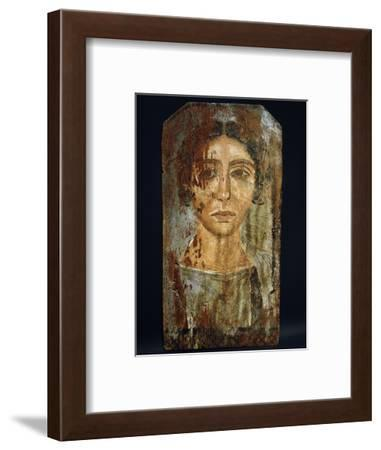 Portrait of a woman, Roman Egypt, probably 3rd century AD-Werner Forman-Framed Giclee Print