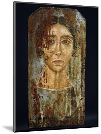 Portrait of a woman, Roman Egypt, probably 3rd century AD-Werner Forman-Mounted Giclee Print
