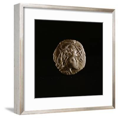 Celtic coin, Armorica, France, first half of the 1st century BC-Werner Forman-Framed Giclee Print