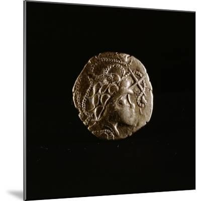 Celtic coin, Armorica, France, first half of the 1st century BC-Werner Forman-Mounted Giclee Print