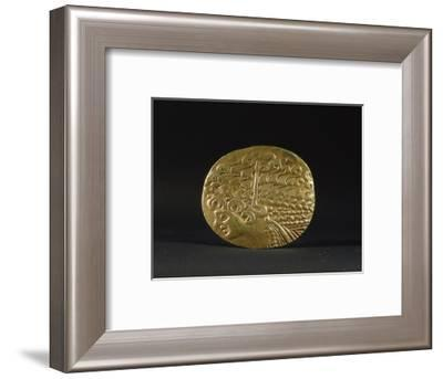 Gold coin belonging to the Ambiani, from the north of Gaul, 2nd century BC-Werner Forman-Framed Giclee Print