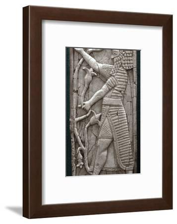 Ivory fragment depicting a warrior, Phoenician, Iraq, last third of 8th century BC-Werner Forman-Framed Photographic Print