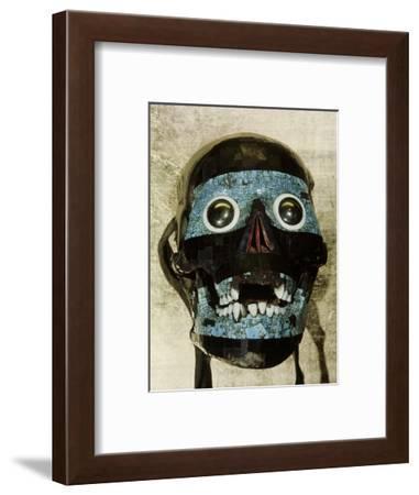Mask of Tezcatlipoca, the Smoking Mirror, Mixtec/Aztec, Mexico, c1500-Werner Forman-Framed Photographic Print