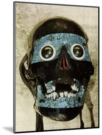 Mask of Tezcatlipoca, the Smoking Mirror, Mixtec/Aztec, Mexico, c1500-Werner Forman-Mounted Photographic Print