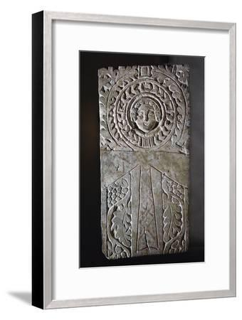 Early Coptic Christian stela, Egypt, 4th-7th century-Werner Forman-Framed Giclee Print