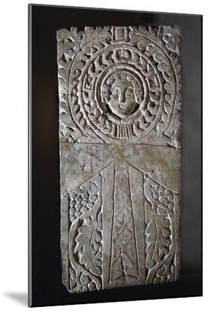 Early Coptic Christian stela, Egypt, 4th-7th century-Werner Forman-Mounted Giclee Print