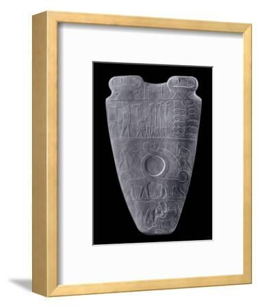 The Narmer Palette, Ancient Egyptian, c3100-2890 BC-Werner Forman-Framed Giclee Print