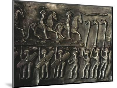 Panel of the Gundestrup cauldron, 2nd or 1st century BC-Werner Forman-Mounted Giclee Print