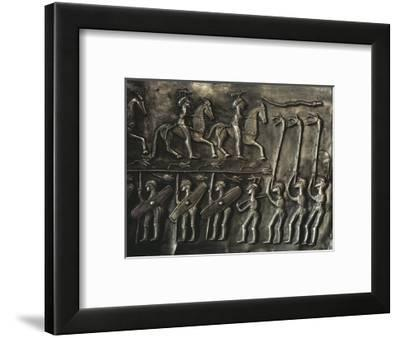 Panel of the Gundestrup cauldron, 2nd or 1st century BC-Werner Forman-Framed Giclee Print