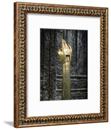 Reliquary of the hand of St John the Baptist, possibly Byzantine-Werner Forman-Framed Photographic Print