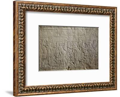 Relief, Ancient Egyptian, 26th dynasty, 664-525 BC-Werner Forman-Framed Photographic Print