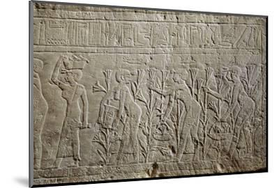 Relief, Ancient Egyptian, 26th dynasty, 664-525 BC-Werner Forman-Mounted Photographic Print