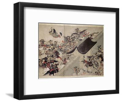 Detail from the Heiji scroll, Japanese, Kamakura period, 1185-1333-Werner Forman-Framed Photographic Print