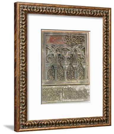 Stucco wall decoration, Islamic Spain, Muluk al Tarr'if period, 12th century-Werner Forman-Framed Photographic Print