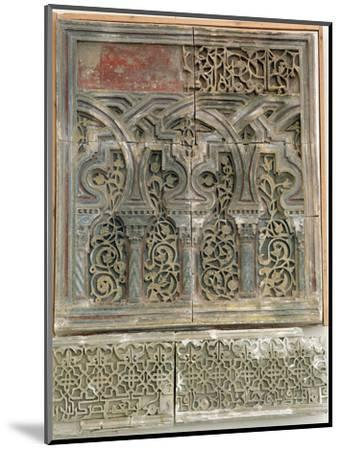 Stucco wall decoration, Islamic Spain, Muluk al Tarr'if period, 12th century-Werner Forman-Mounted Photographic Print