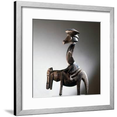 Wooden Senufo equestrian figure, northern Ivory Coast-Werner Forman-Framed Photographic Print