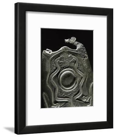 The 'Two Dogs Palette', Ancient Egyptian, late Predynastic period, c2990 BC-Werner Forman-Framed Photographic Print
