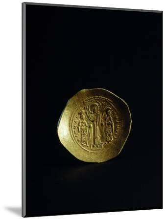 Obverse of a gold scyphate (coin) of Romanos IV, Byzantine, 11th century-Werner Forman-Mounted Photographic Print