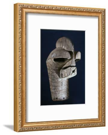 Songye wooden mask, Katanga region, DR Congo, 20th century-Werner Forman-Framed Photographic Print