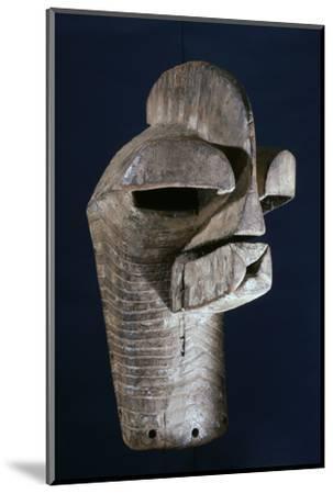 Songye wooden mask, Katanga region, DR Congo, 20th century-Werner Forman-Mounted Photographic Print