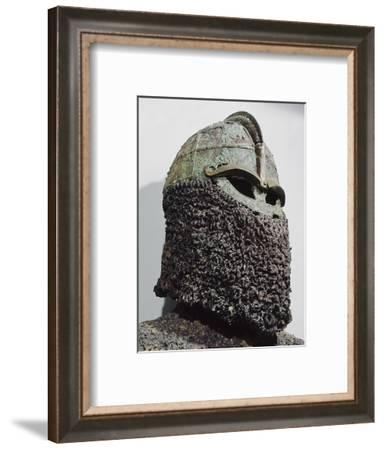 The so-called 'Sigurd's Helmet', pre-Viking, Sweden, c7th century-Werner Forman-Framed Photographic Print