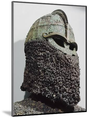 The so-called 'Sigurd's Helmet', pre-Viking, Sweden, c7th century-Werner Forman-Mounted Photographic Print