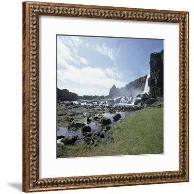 Thingvellir, 'Parliament Plains', where the national assembly, the Althing, met, Iceland-Werner Forman-Framed Photographic Print