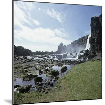 Thingvellir, 'Parliament Plains', where the national assembly, the Althing, met, Iceland-Werner Forman-Mounted Photographic Print