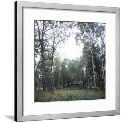 Viking burial mound, Fjord of Oslo, Norway-Werner Forman-Framed Photographic Print