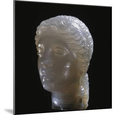 Hellenistic alabaster female head, Greece, 3rd century BC-Werner Forman-Mounted Photographic Print