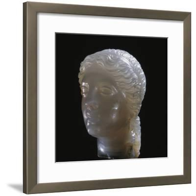 Hellenistic alabaster female head, Greece, 3rd century BC-Werner Forman-Framed Photographic Print