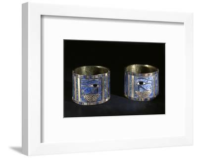 Bracelets with Wedjat eyes, Ancient Egyptian, 22nd dynasty, c890 BC-Werner Forman-Framed Photographic Print