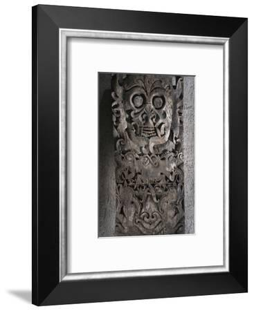 Dayak carved wooden panel, Kalimantan, Borneo, 19th-20th century-Werner Forman-Framed Photographic Print