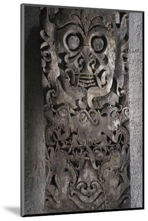 Dayak carved wooden panel, Kalimantan, Borneo, 19th-20th century-Werner Forman-Mounted Photographic Print