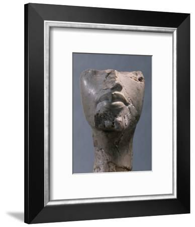 Fragment of a head, Ancient Egyptian, Amarna period, c1352-1336 BC-Werner Forman-Framed Photographic Print