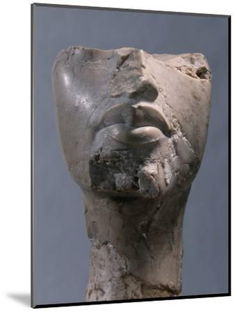 Fragment of a head, Ancient Egyptian, Amarna period, c1352-1336 BC-Werner Forman-Mounted Photographic Print