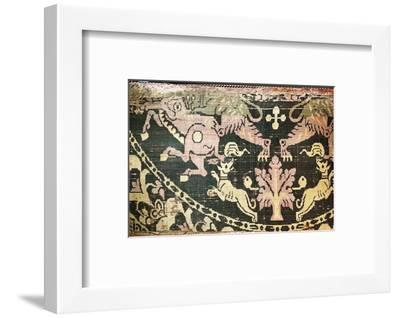 Oriental silk textile, c600 AD-Werner Forman-Framed Photographic Print