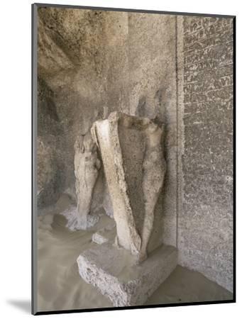 Boundary stele of Akhenaten's city of Amarna, Tuna el-Gebel, Egypt, c1350-1334 BC-Werner Forman-Mounted Photographic Print