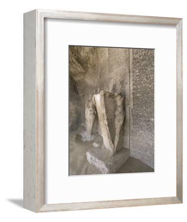 Boundary stele of Akhenaten's city of Amarna, Tuna el-Gebel, Egypt, c1350-1334 BC-Werner Forman-Framed Photographic Print