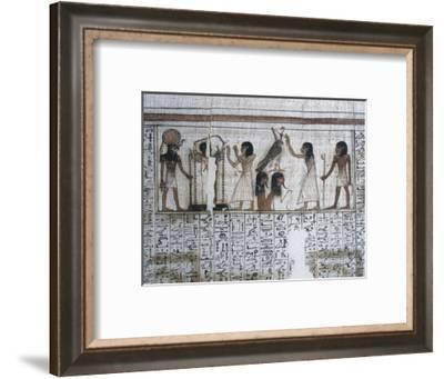 Vignette from the Book of the Dead of Neferrenpet, Ancient Egyptian, 19th dynasty, 1295-1186 BC-Werner Forman-Framed Photographic Print