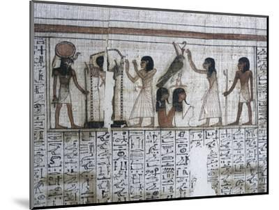 Vignette from the Book of the Dead of Neferrenpet, Ancient Egyptian, 19th dynasty, 1295-1186 BC-Werner Forman-Mounted Photographic Print