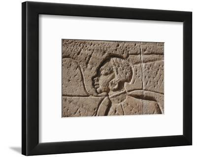 Detail of a relief of captured Nubian prisoners of war, Temple of Rameses II, Abu Simbel, Egyp-Werner Forman-Framed Photographic Print