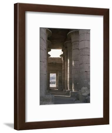 Hypostyle hall, the Ramesseum, Luxor (Thebes), Egypt-Werner Forman-Framed Photographic Print