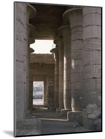 Hypostyle hall, the Ramesseum, Luxor (Thebes), Egypt-Werner Forman-Mounted Photographic Print