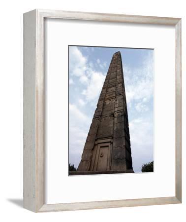 Stele, Axum, Ethiopia-Werner Forman-Framed Photographic Print