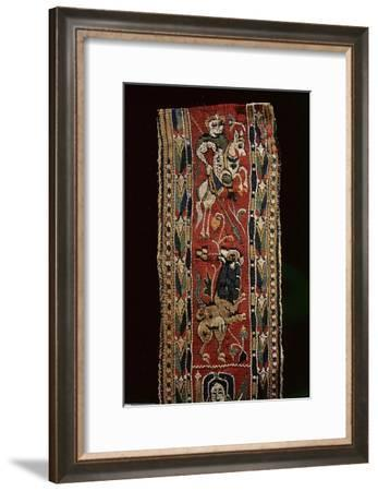 Detail of a Coptic textile, showing a mounted knight, possibly St-Werner Forman-Framed Giclee Print