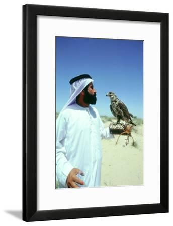 Hawking is a traditional sport of the Bedu and is still very popular in the Emirates-Werner Forman-Framed Giclee Print